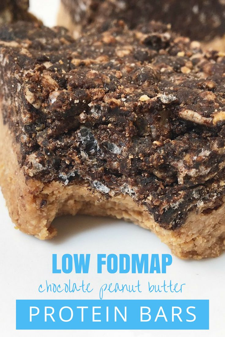 IBS-friendly Low FODMAP No Bake Chocolate Peanut Butter Protein Bars