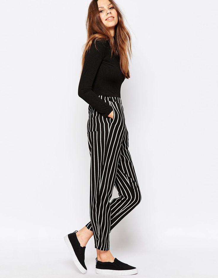 Glamorous Trousers in Triple Stripe Print