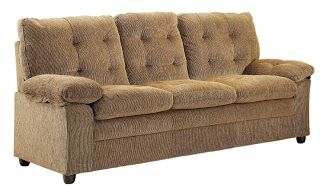 Product Description Homelegance 9715BR-3 Charley Sofa Brown Chenille    Surround yourself with comfort in this seating collection from Homelegance. The tufted chenille upholstery of this high back grouping are the perfect addition to your living space. Pillow top arms add to the inviting comfort while the brown chenille color allows for a warm yet neutral color welcome in many environments. Also available in chocolate brown chenille (9715CH).