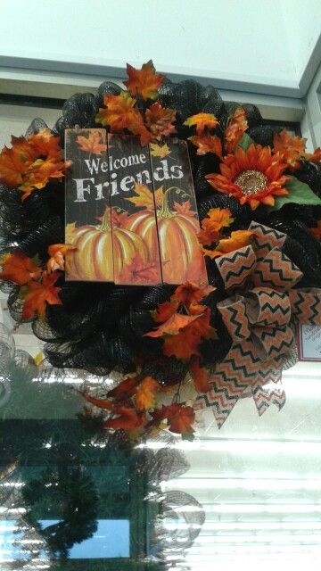 Fall mesh wreath by Rhonda