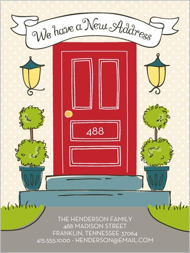 Our New Address 4x5 Stationery Card by Stacy Claire Boyd | Shutterfly