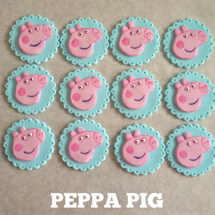 Peppa Pig Cupcake Toppers! www.facebook.com/EASYCAKEFUN