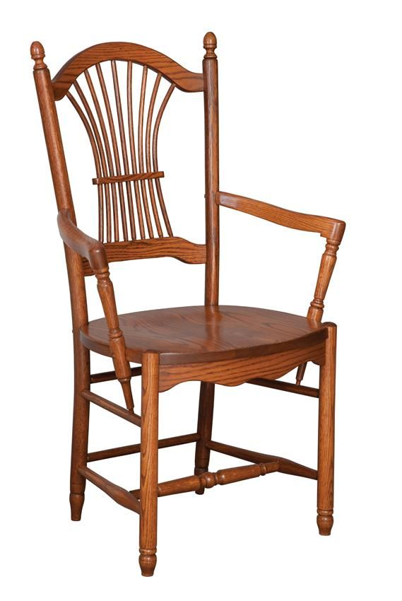 Amish Hanover Sheaf-Back Dining Chair  Leola Collection  There is nothing quite like the feel of a sturdy, solid wood dining room chair.  The comfort and stability of solid wood, Amish made furniture is extraordinary.