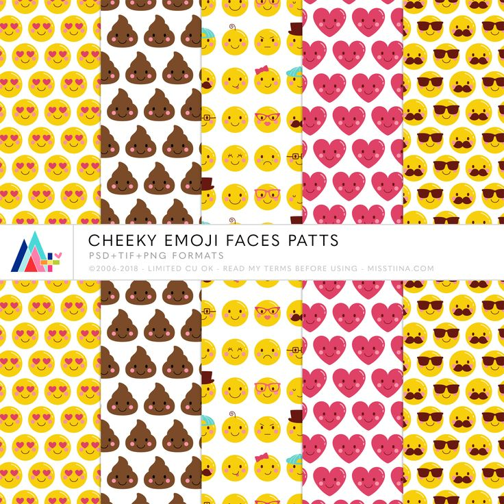 NEW Cheeky Emoji Faces patters – 25% OFF in my SHCO SHOP… CU FREEBIE!! Click below to download this cute (poop, love eyes, heart and cool dude with shades) emoji set! Have an awesome we…