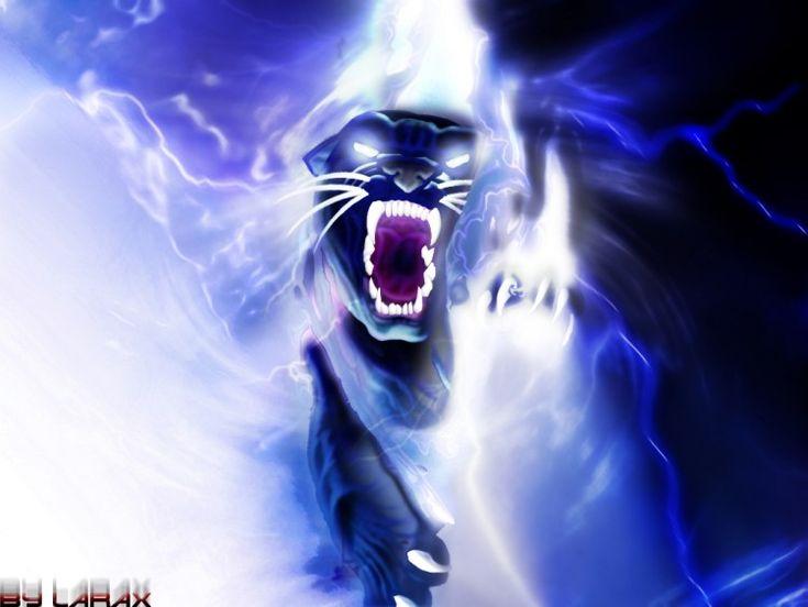 Fonds d'écran Fantasy et Science Fiction Créatures Diverses lightning pantehre