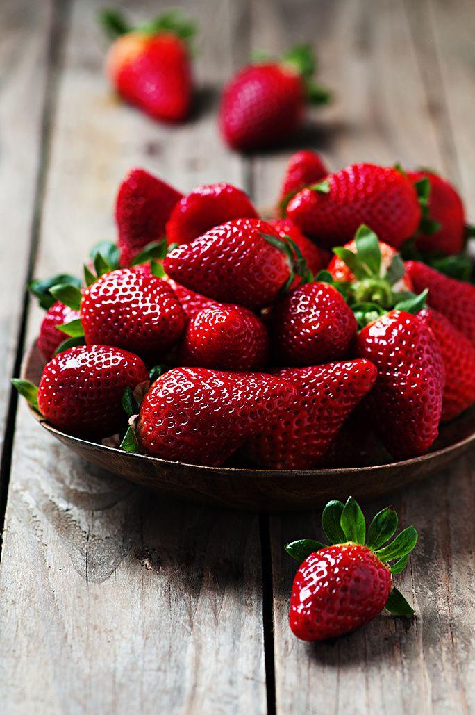Fresas listas para comer