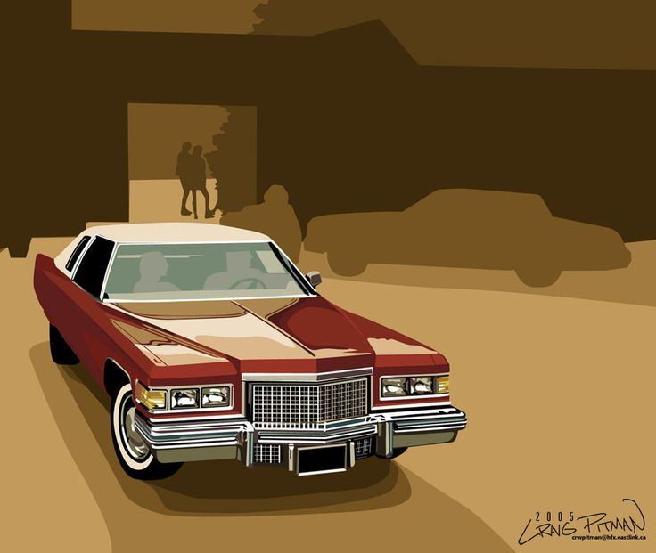 A Vector Drawing Of Cadillac From An Ad I Found In National Geographic Collect Car Advertisements And This Others Were For Stillborn