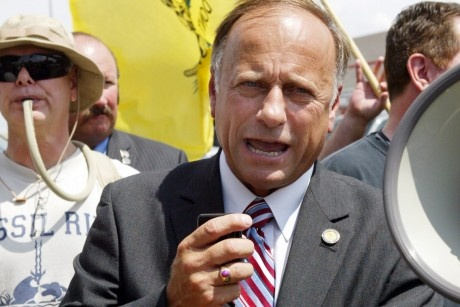 """Steve King: A founding member of the Tea Party Caucus and Michele Bachmann's partner in crime, King is the king of Tea Party extremes. He hailed Joseph McCarthy as """"a hero for America"""" and refused to 'concede' that birth control prevents pregnancy. In Iowa's 4th Congressional District, Iowans need someone in touch with reality and the issues facing hardworking Americans"""