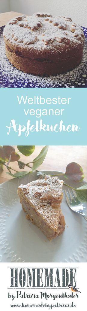 Hier gibt es da Rezept für den weltbesten Apfelkuchen und ich garantiere euch, er schmeckt nicht nur Veganern! Weitere tolle Rezepte und DIY Ideen findet ihr auf www.homemadebypatricia.de