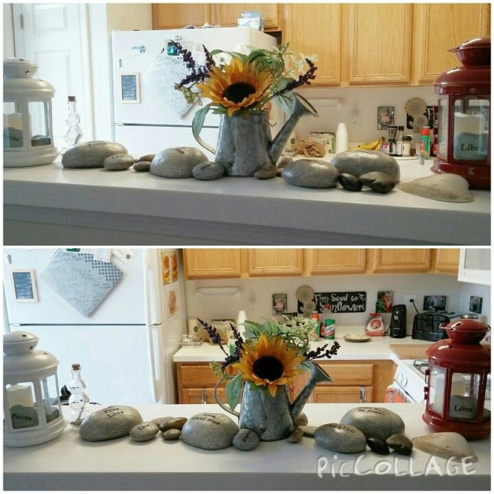Adding outside items, like rocks and flowers, can make your house look like a home.