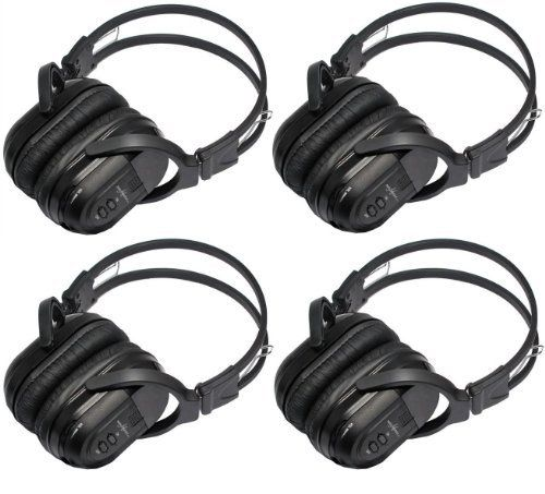 4 Pack of Two Channel Folding Universal Rear Entertainment System Infrared Headphones Wireless IR DVD Player Head Phones for in Car TV Video Audio Listening by Melodeez. $79.99. You will receive 4 wireless headphones. Enjoy music, movies and more! With these wireless infrared folding headphones. Automotive Grade IR Headphones: Will work on any vehicle that uses infrared headphones. No programming required! Simply turn on the headphones and they will connect to your ve...