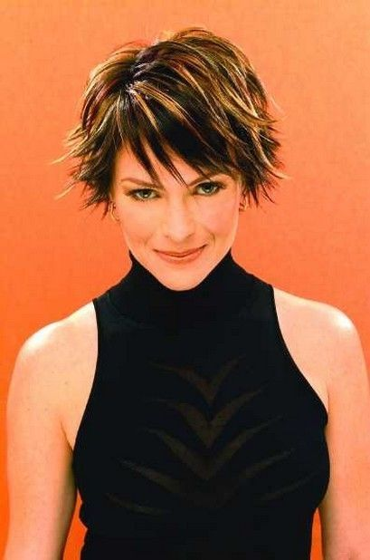 wedge haircuts for women | short razor cut hairstyles_short hair styles for older woman picture by staci
