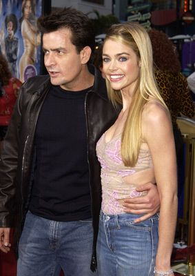Charlie Sheen and Denise Richards at an event for Undercover Brother (2002).