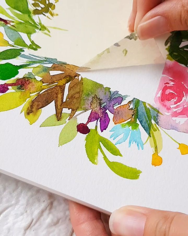 Just Sharing This Personal Project Let S Peel This Masking Tape Watercolour Watercolorph Watercolorp Gold Watercolor Watercolor Art Watercolor