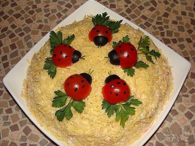 Красивые салаты с фотографиями и рецептами