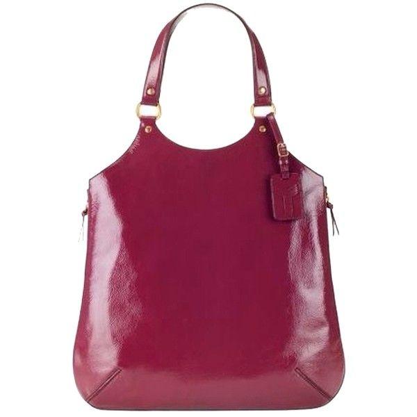 Pre-owned Saint Laurent Ysl Medium Tribute Bordeaux Patent Leather ...