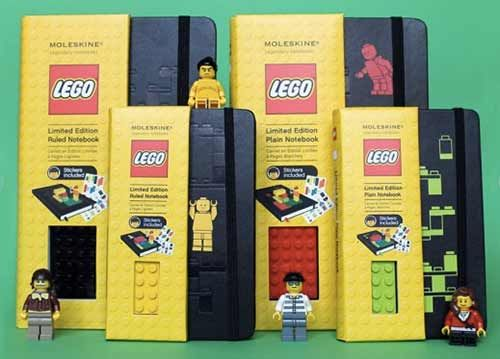 Lego + Moleskine = if two things that I love had sex and made a variety of babies.