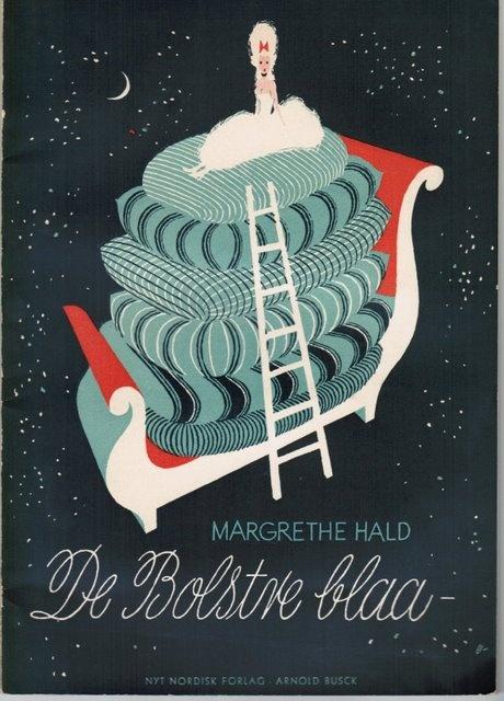 Margrethe Hald: De Bolstre blaa - Arne Ungermann cover illustration