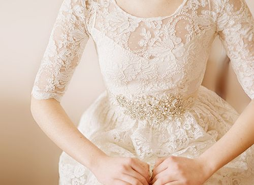 I LOVE dresses with the overlay of lace sleeves!