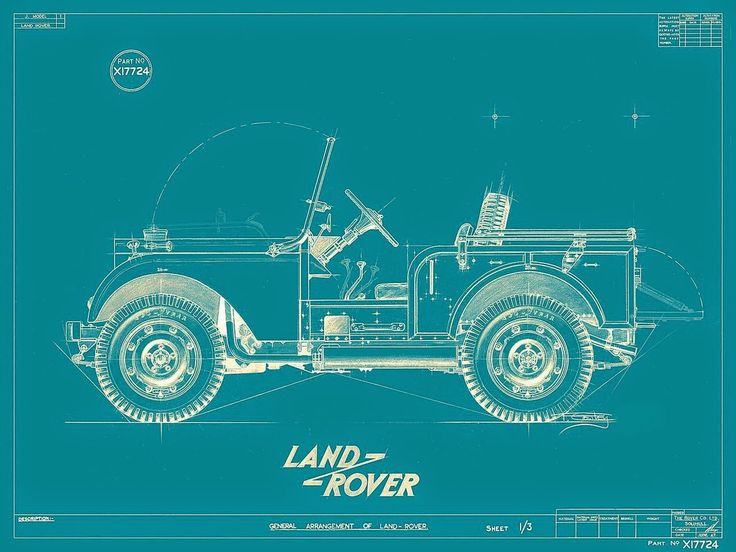 Land Rover diagram. #LandRover #Defender #original #diagram #drawing