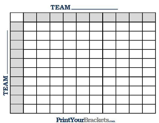 Resource image inside printable football grid