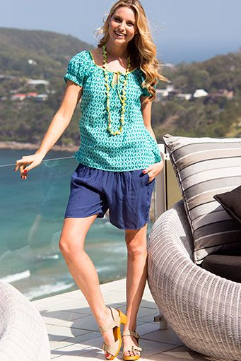 Firefly Clothing Suzie top and Naomi shorts launching in September  www.fireflyonline.com.au #summer