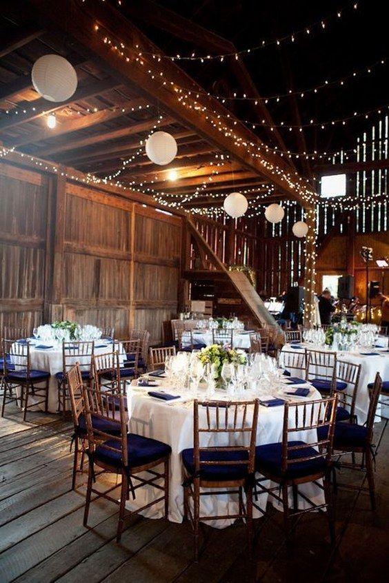 Rustic Indoor Wedding Decor