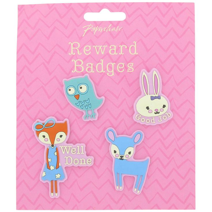 10. foxtrot reward badges from Paperchase -- love these! - stocking fillers for girls / advent calendar