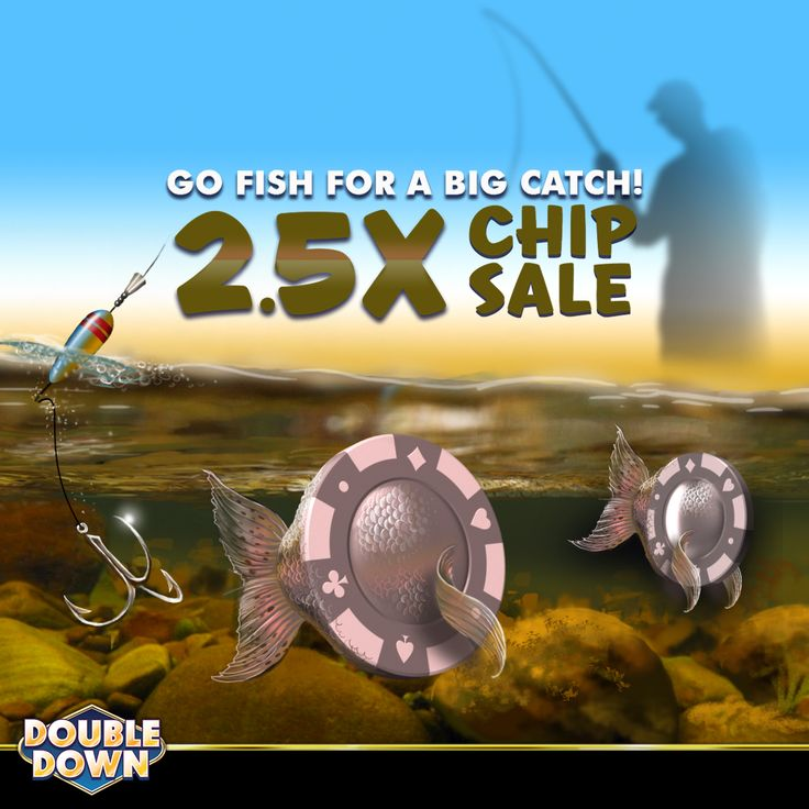 (EXPIRED) Go fishing for fun & big wins! Get more than double value in today's sale. Start playing with 150,000 FREE chips and buy now when you tap the Pinned Link (or use code BXNXDL)