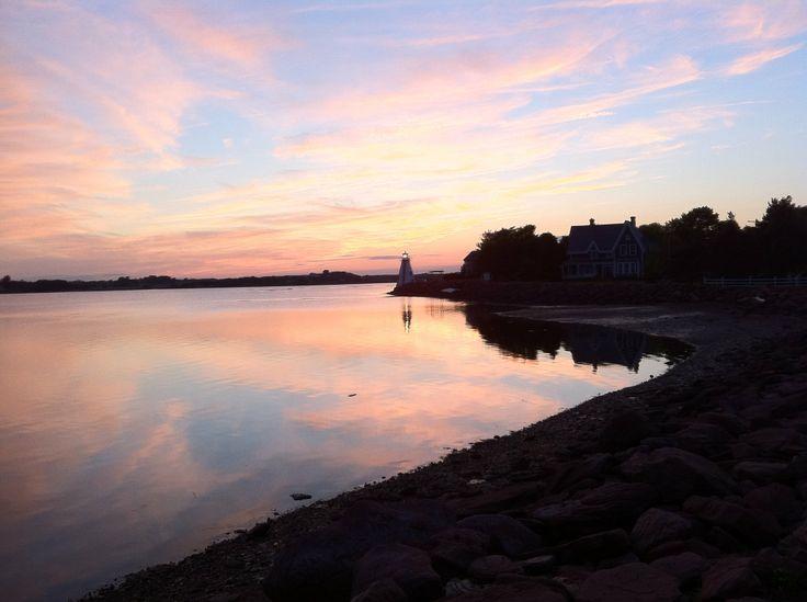 A beautiful sunset off the Charlottetown Boardwalk.
