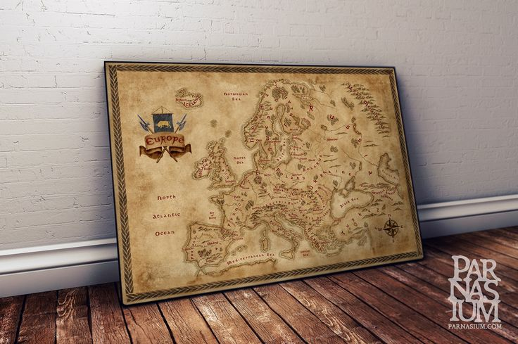 Fantasy Map of Europe, Old Map of Europe