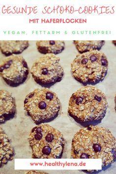 Gesunde Schoko-Cookies mit Haferflocken: vegan & fettarm.