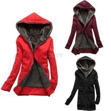 Nuevo 2015 capa del invierno mujeres sudaderas con capucha de lana de piel caliente del vestido ocasional sudaderas con capucha larga chaqueta de lana mujeres(China (Mainland))