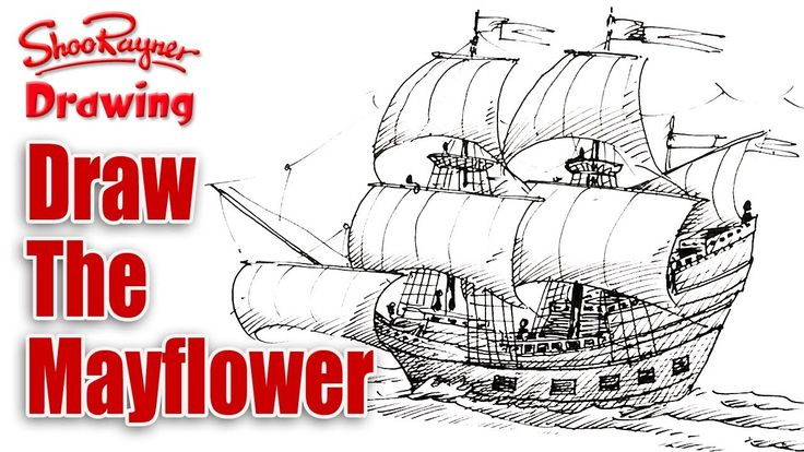 How to draw the Mayflower Spoken tutorial Drawings