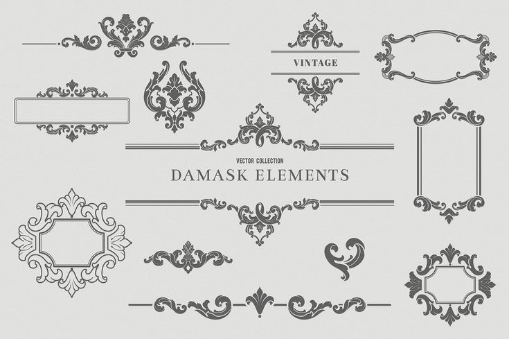 Vintage Design Elements by Solana on @creativemarket