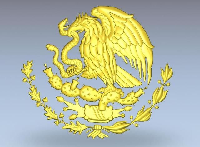 Mexican Flag Eagle Emblem