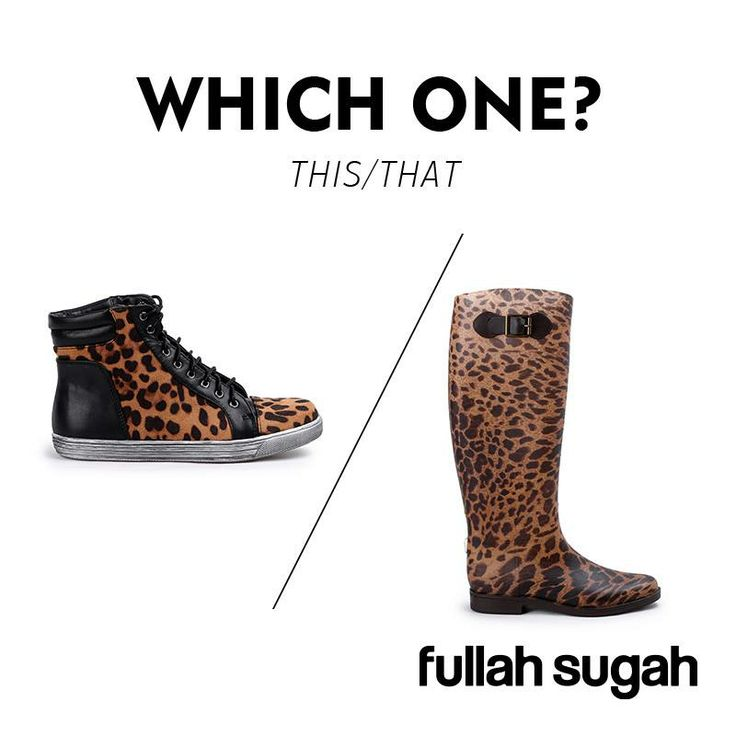 Leopar! Always in fashion. Choose the one you like, or maybe both ...