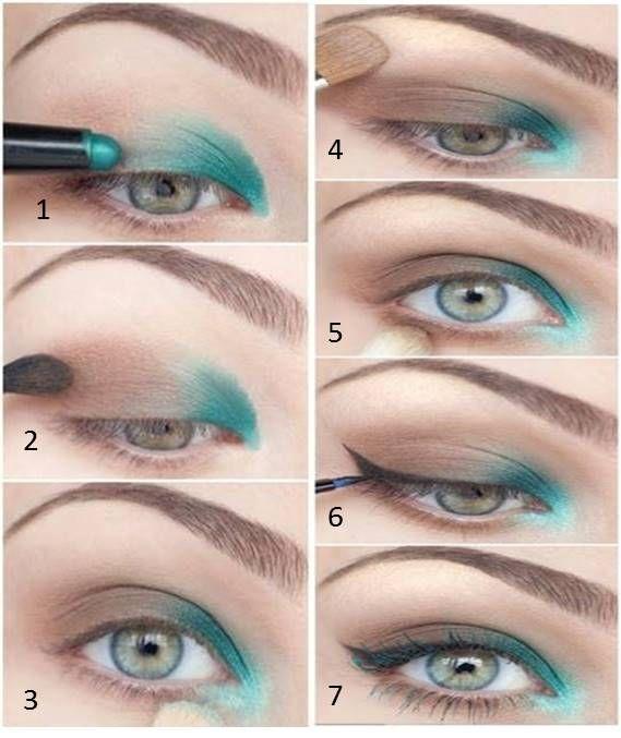 17 mejores ideas sobre sombra de ojos verde en pinterest - Como pintarse los ojos de negro ...