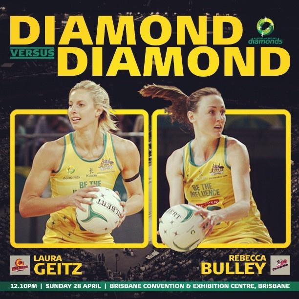 Rd 6 Diamond v Diamond match-up was Laura Geitz versus Bec Bulley