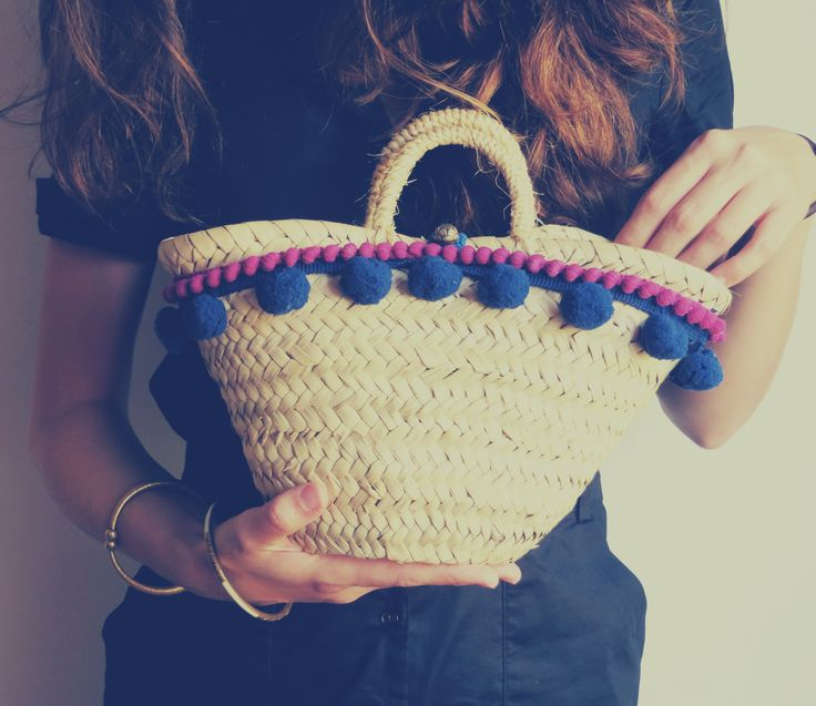 Super chic little straw bag #mediterranean #basket #handicrafted