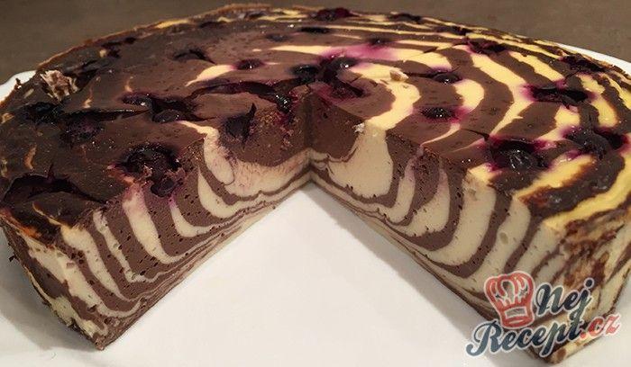 FITNESS tvarohový dort bez mouky a cukru