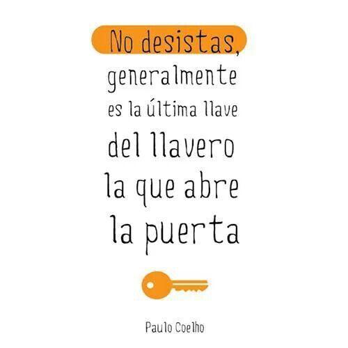 No hay que perder la esperanza. #citas #frases