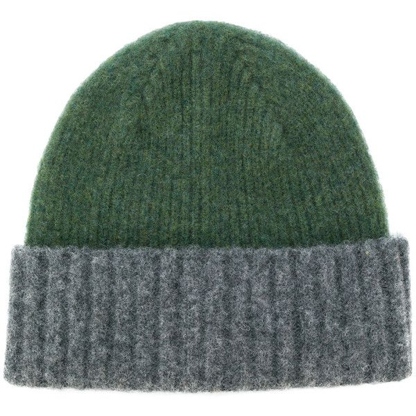 Howlin' contrast beanie hat ($59) ❤ liked on Polyvore featuring men's fashion, men's accessories, men's hats, grey, mens beanie hats and mens wool hats