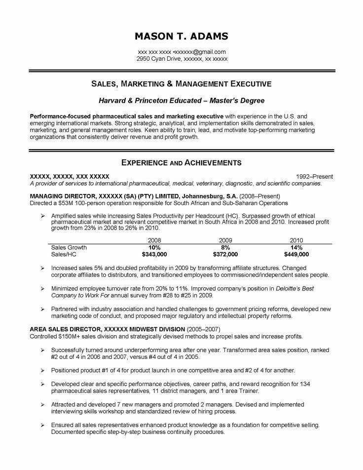23 Sales Executive Resume Examples in 2020 (With images