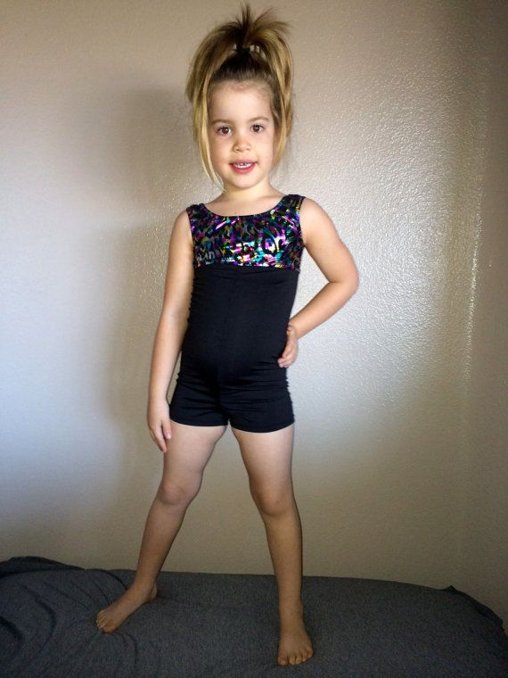 Gymnastics leotards with shorts attached