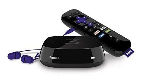 Roku 3 Streaming Media Player With Voice Search (Certified Refurbished)