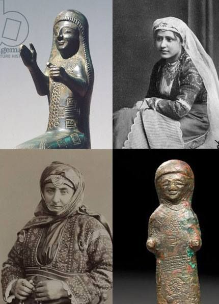 araratian-VAN Kingdom godess BCE8 century and armenian womans in traditional dresses 20 cnetury (Ottomanian Empire Western Armenia)