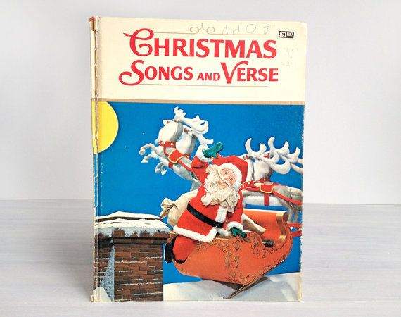 Christmas Songs and Verse, vintage 1971 children's book, photos by Izawa and Kawamoto, Night Before Christmas kids' picture book, Japanese