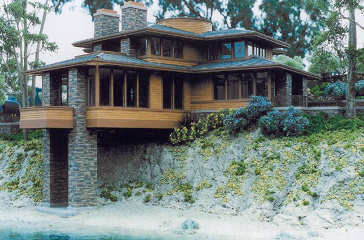 Prairie modern house plans google search the williams for Frank lloyd wright stile prateria
