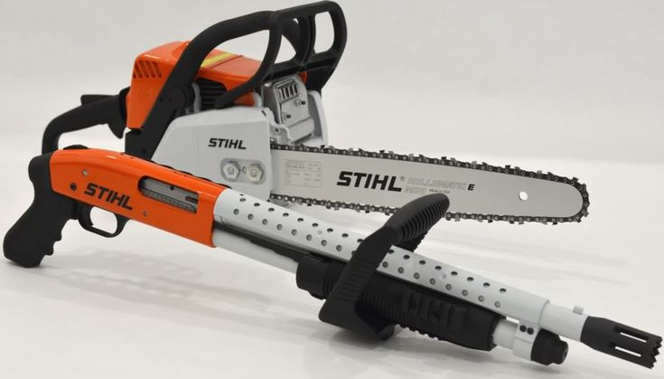 Mossberg 500 / Stihl Chainsaw combo for killing zombies!! Hahaha! Love the handle-for those head kills!! Lol!!!